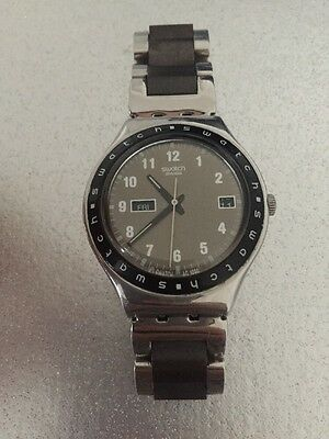 Men's Swatch Stainless Steel Watch (Grey Face)