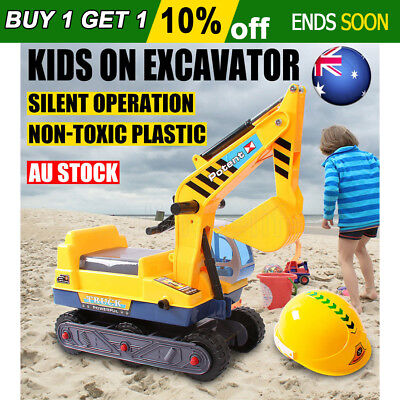 Ride On Car Kids Digger Pretend Play Excavator Indoor/Outdoor Fun Play Toys AU