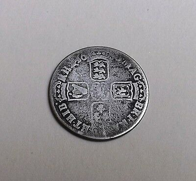 William 111 1696 Shilling Very Nice Rare Coin