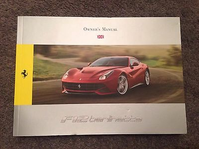 Genuine Ferrari F12 Berlinetta Owners Manual English Version 85173600 Brand New!