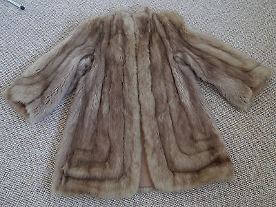 real fur long jacket coat swinger