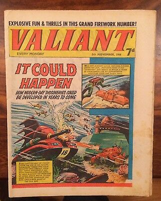 Valiant Vintage uk Comic November 1966  Good Condition
