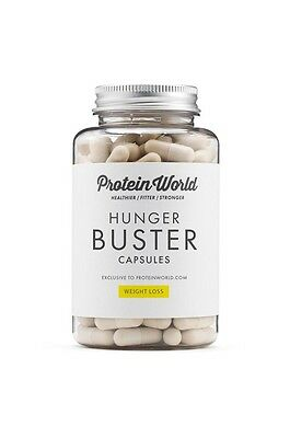 Hunger Buster - Weight Loss -PROTEIN WORLD 90 Capsules - New