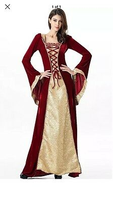 Stunning Ladies Medieval Renaissance Gown Dress Costume Maid Marion **Worn Once*