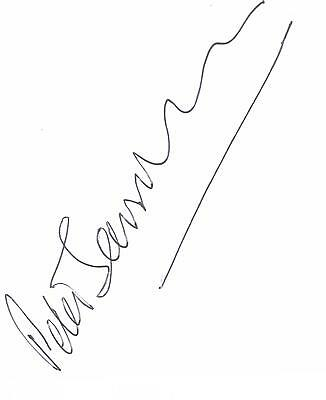 Peter Sarstedt autographed white page
