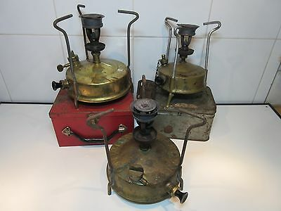 Classic Camping Stoves X3 Thermidor Rm Parasene Job Lot Vtg Paraffin Primus Type