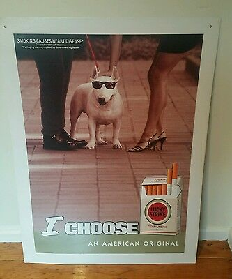 Lucky Strike Tobacco Cigarettes Advertising Poster (POS) - 90s Double Sided