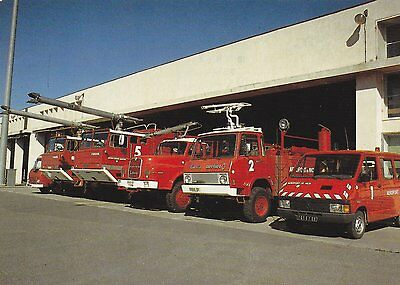 A Fire Service Postcard Showing Nice Cote D'Azur Airport from 1991