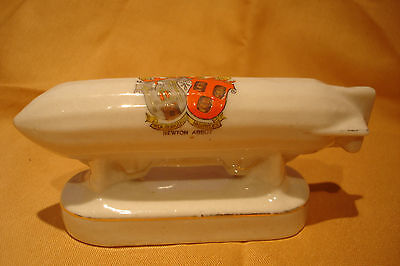 Ww1 Arcadian Crested China Zeppelin Newton Abbot Crest