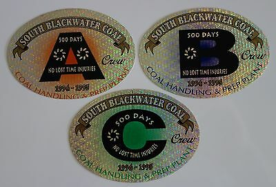 South Blackwater Coal Mining Sticker Set For Toolbox Work Bench Hard Hat Etc