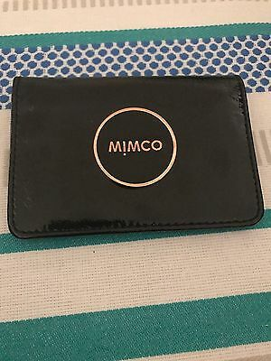 Black & Rose Gold Mimco Leather Card Wallet - RRP $69.95
