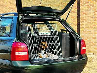 VivaPet In Car Sloping Transport Travel Mobile Dog Puppy Cat Metal Cage Crate Ke
