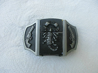Belt Buckle Scorpian & Revolvers  with Removable Scorpian Lighter NEW