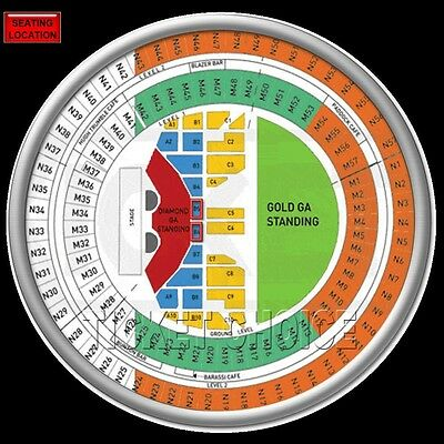 Guns N Roses Melbourne Tickets Premium Reserved Floor Seats B10
