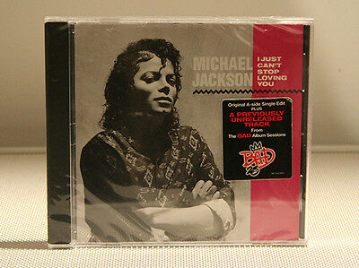 Michael Jackson I JUST CAN'T STOP LOVING YOU BAD 25th single cd  rare sealed