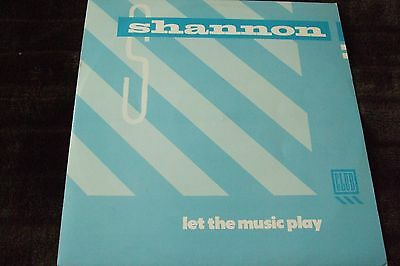 "SHANNON 12"" Single LET THE MUSIC PLAY"