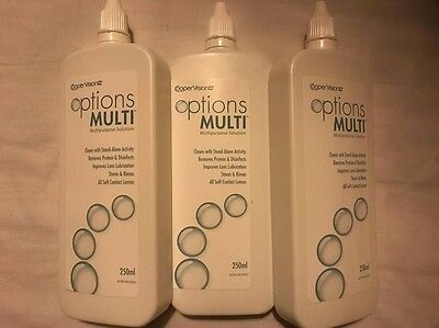 CooperVision Options Multi Contact Lens Solution - 3 bottles