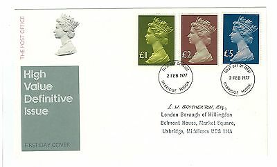 1977  High Value Definitive Stamps First Day Cover