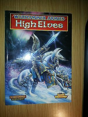 Warhammer Armies Fantasy - High Elves Army Supplement. Great Condition OOP