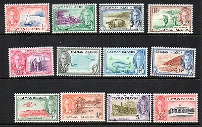 Cayman Island Stamps. KG VI. Part set. 1/4d to 10/-.   SG  No. 135 to 147.  Mint