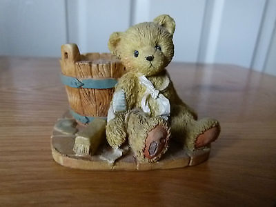 cherished Teddies Joshua Love repairs all bear figurine