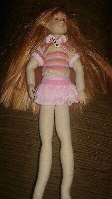 Only Hearts Club Poseable Cloth Doll~Lily Rose nude naked freckles red hair-cute