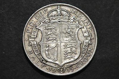 1915 KING George V Silver Coin Half Crown.