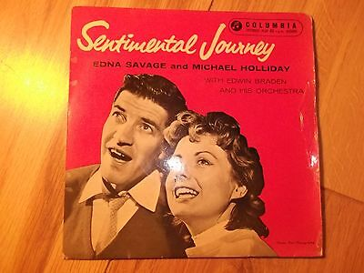 "MICHAEL  HOLLIDAY and  EDNA SAVAGE -  ""SENTIMENTAL JOURNEY"" Vinyl EP -1958"
