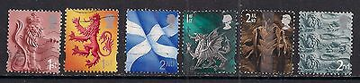 GB 1999 - 2002 QE2 1st & 2nd  6 x Various regional stamps. ( 13 )