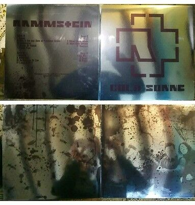 Rammstein cold sonne 2lp gatefold reflective glossy cover Limited live