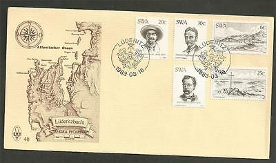 SOUTH WEST AFRICA - 1983 The 100th Anniversary of Foundation of Luderitz - F.D.C