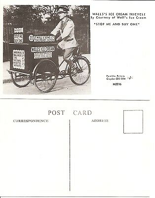 Postcard Pamlin Print Croydon Wall's Ice Cream Tricycle. 'Stop Me Ans Buy One'