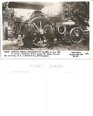 Postcard Pamlin Print Croydon M2124 Burrell  Road Locomotive No.3892 In 1921