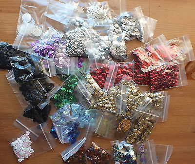 job lot of 46 packs of sequins and embellishments