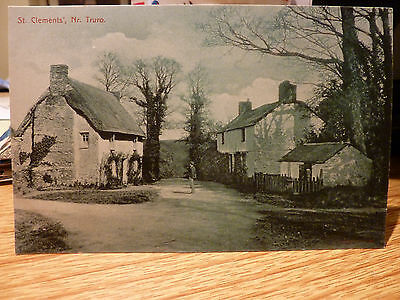 A Period Postcard Of St Clements Nr Truro Cornwall