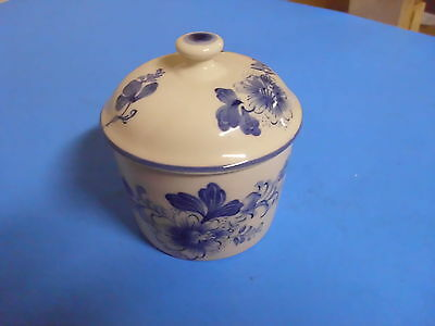 Williamsburg Andrea Sadek Hand Painted Blue Sugar Bowl A