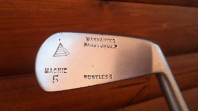 Rustless Mashie 5 Steel Shafted Right Handed Vintage Iron, Very Rare Club