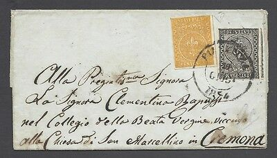 Parma 1852 Cover To Cremona Nº 2+6 With Certificate