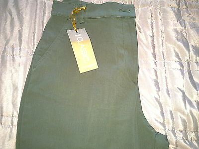 green cropped trousers size 14 by M&S