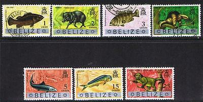 Belize 1970 QEII Wildlife - MH & Used