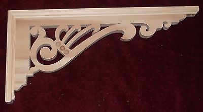 "Victorian Wood Gingerbread {19"" x 9"" } Porch House Trim Bracket #54 ~ by  PLD"