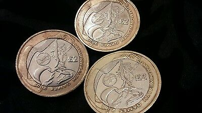 Commonwealth Games 2002 £2 Two Pound - Set Of 3 Coins, Wales, England, Scotland
