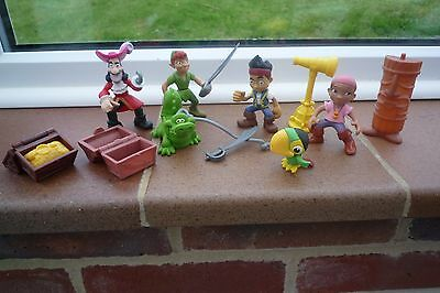Peter Pan and Jake and Neverland Pirates Plastic Figure Bundle Lobely