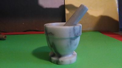 White Marble Kitchen Pestle and Mortar