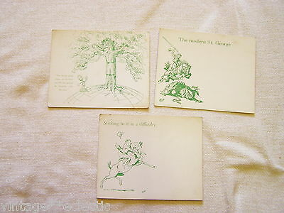 Lord Baden-Powell Postcards (3) From Original Sketches ~ Boy Scouts Vintage