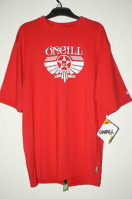 **bnwt** O'neill Rash Vest/guard , Mens Large, Red, Low Neck, 50+ Uv Protection