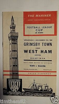 Grimsby Town v West Ham Utd Football League Cup 5th Round