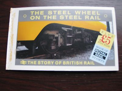 The Steel Wheel Stamp Booklet (with stamps) - The Story of British Rail