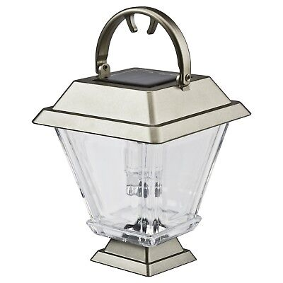 Solar Powered Silver Lantern / Garden Light NEW & FREE DELIVERY