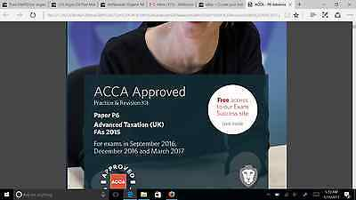 ACCA P6 Bpp Practice & Revision KIT March 2017